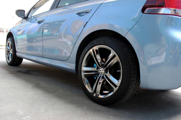 大众17寸拉丝轮毂改装升级17寸电镀轮毂后整车效果图