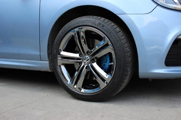 大众17寸拉丝轮毂改装升级17寸电镀轮毂后