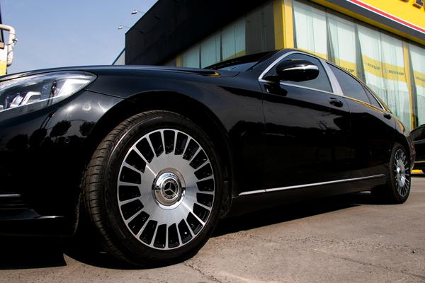 奔驰s400升级迈巴赫s680款锻造悬浮轮毂