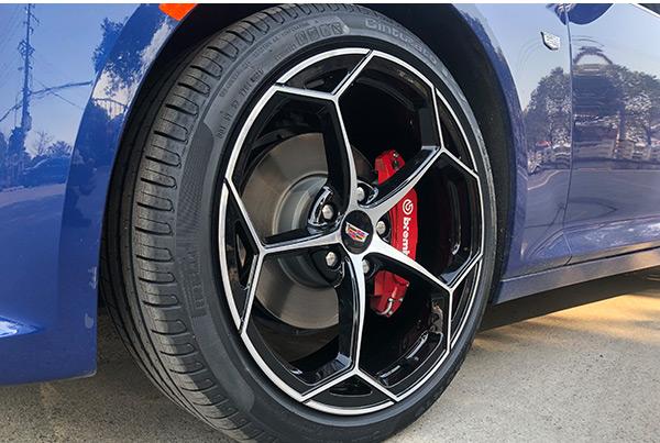 凯迪拉克ct5升级改装19寸锻造定制轮毂